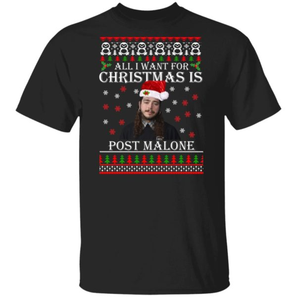 All I want for Christmas is Post Malone ugly sweater