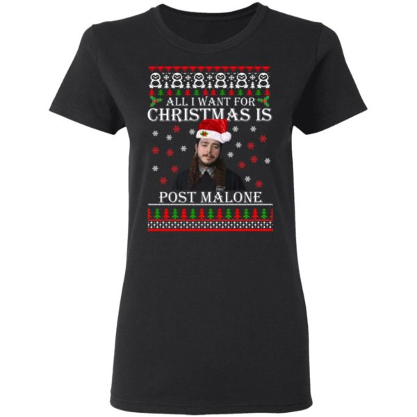All I want for Christmas is Post Malone ugly sweater 3