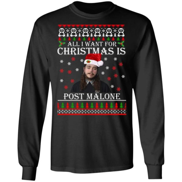 All I want for Christmas is Post Malone ugly sweater 5