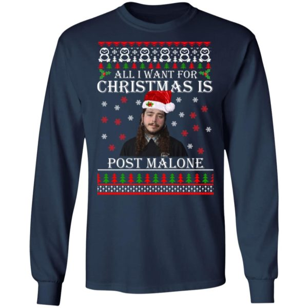 All I want for Christmas is Post Malone ugly sweater 6