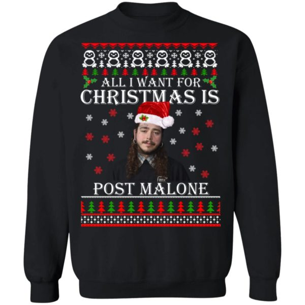 All I want for Christmas is Post Malone ugly sweater 9