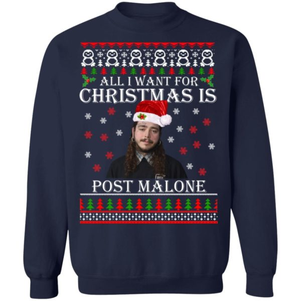All I want for Christmas is Post Malone ugly sweater 10