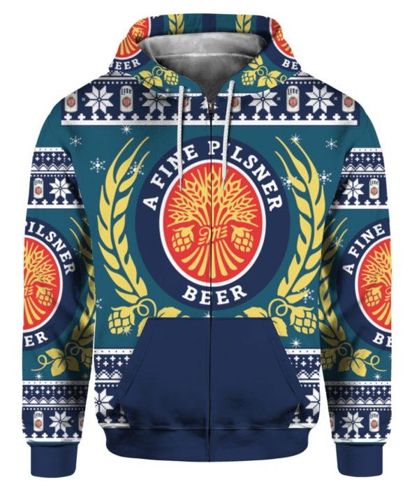Miller Lite 3D Print Christmas ugly sweater 5