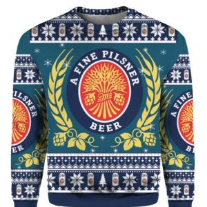 Miller Lite 3D Print Christmas ugly sweater