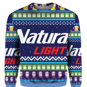 Natural Light 3D Print Christmas ugly sweater