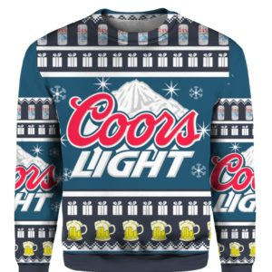 Coors Light 3D Print Christmas sweater