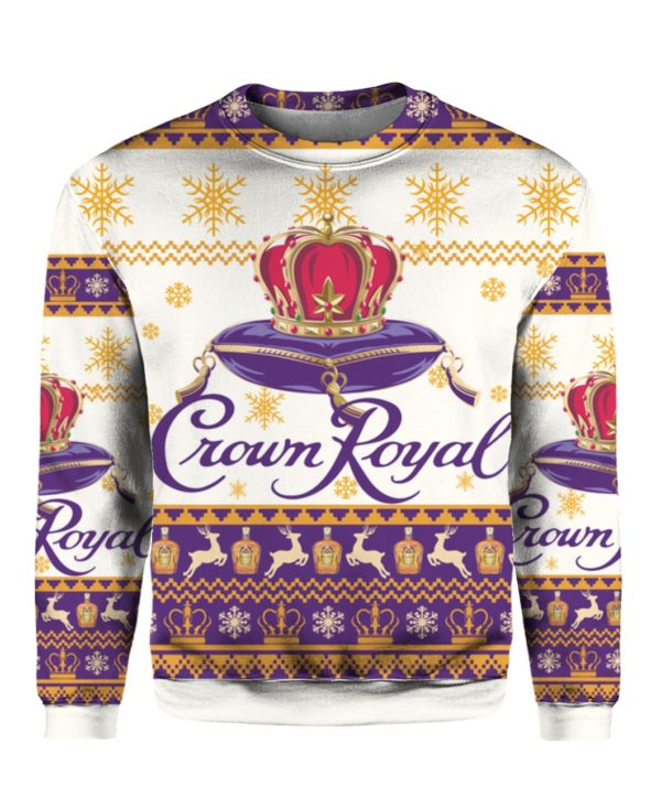 Crown Royal 3D Print Christmas ugly sweater