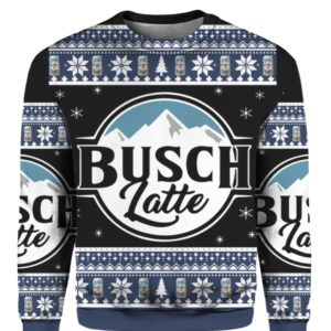 Busch Latte 3D Print Christmas sweater
