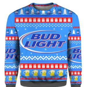 Bud Light 3D Print Christmas sweater