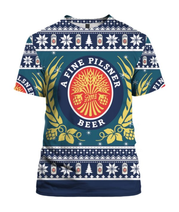 Miller Lite 3D Print Christmas ugly sweater 4