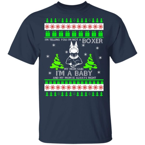 I'm Telling You I'm Not A Boxer Christmas sweater 2