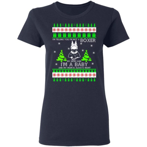 I'm Telling You I'm Not A Boxer Christmas sweater 4