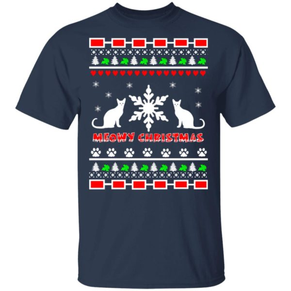Couples Meowy Christmas sweater 2