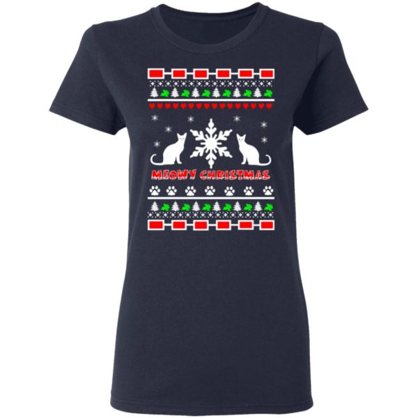 Couples Meowy Christmas sweater 4