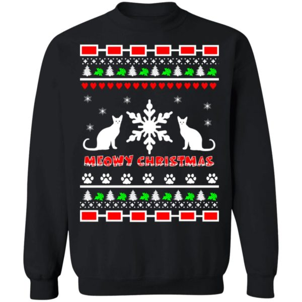 Couples Meowy Christmas sweater 1