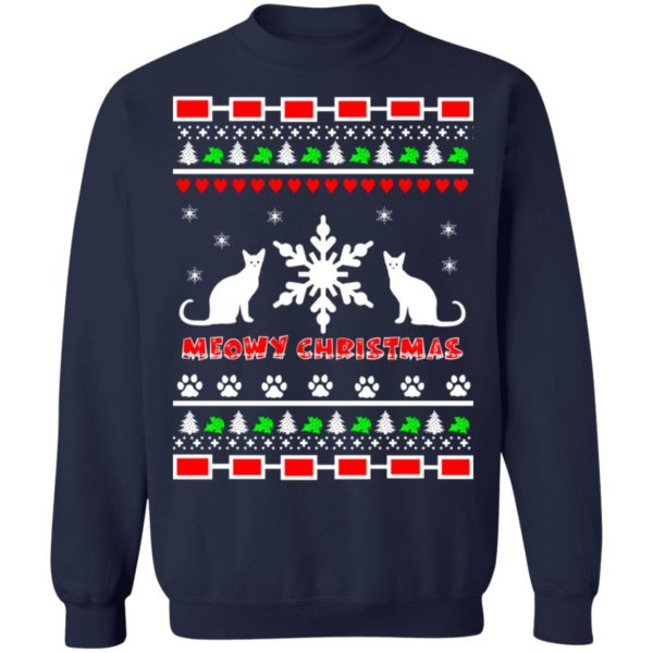 Couples Meowy Christmas sweater 10