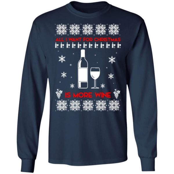 All I Want For Christmas is Wine Ugly Sweater 6