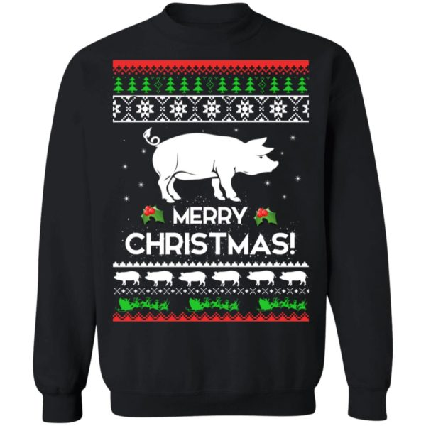 Merry Christmas Pig Ugly Sweater 1