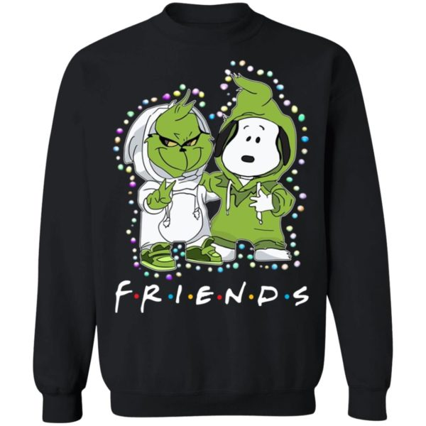 Grinch and Snoopy FRIENDS Christmas sweatshirt