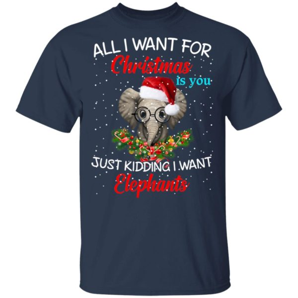 All I want for Christmas is you Just kidding I want Elephants sweater 2