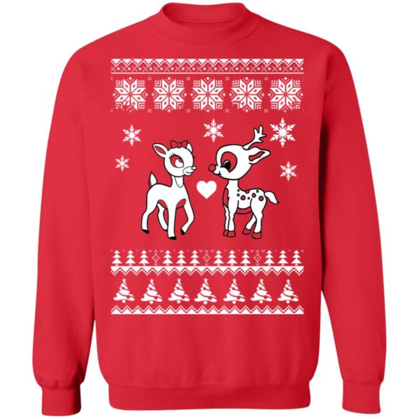 Rudolph And Clarice Christmas sweater