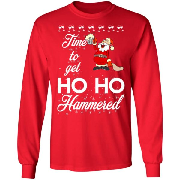 Time To Get Ho Ho Hammered Christmas sweater 6