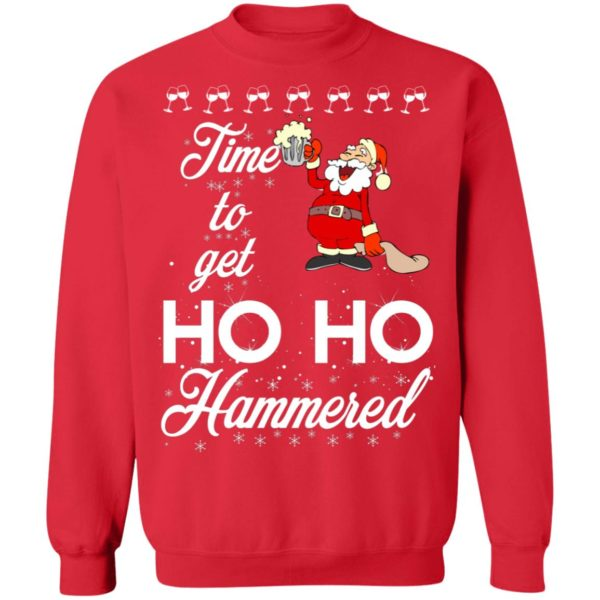 Time To Get Ho Ho Hammered Christmas sweater 11