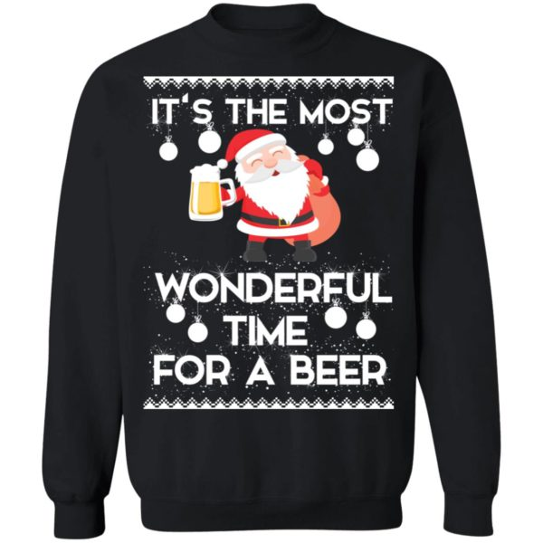 Santa it's the most wonderful time for a beer sweater