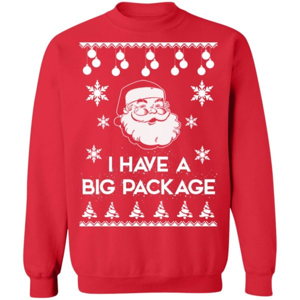 Santa I have a big package Christmas sweater