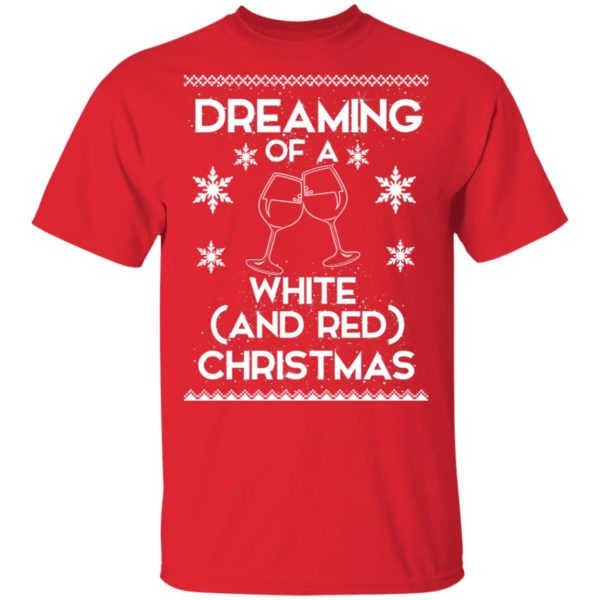 Dreaming Of A White And Red Christmas wine sweater 2