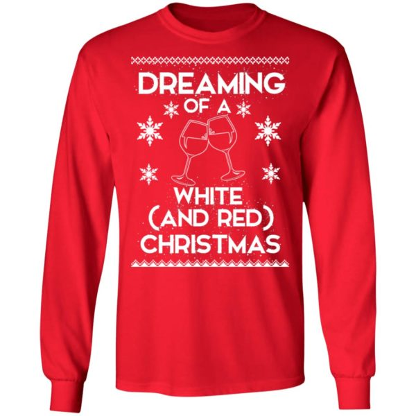 Dreaming Of A White And Red Christmas wine sweater 6