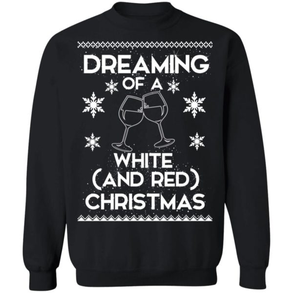 Dreaming Of A White And Red Christmas wine sweater 9