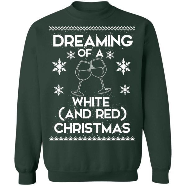Dreaming Of A White And Red Christmas wine sweater 12