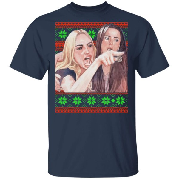 Woman Yelling at a Cat Christmas sweater 2