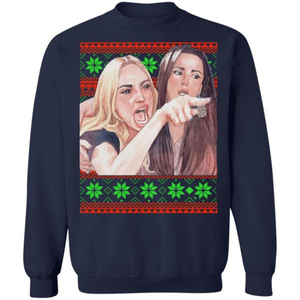 Woman Yelling at a Cat Christmas sweater 10