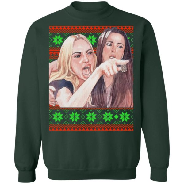 Woman Yelling at a Cat Christmas sweater 11