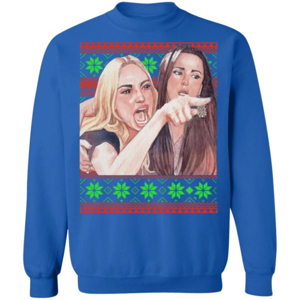 Woman Yelling at a Cat Christmas sweater 12