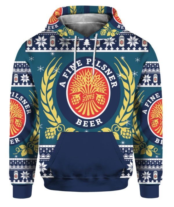 Miller Lite 3D Print Christmas ugly sweater 3