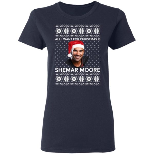 All I want for Christmas is Shemar Moore shirt 4
