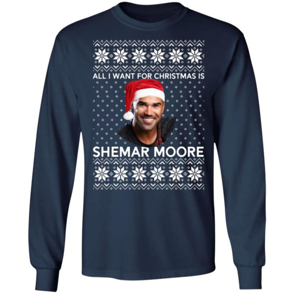 All I want for Christmas is Shemar Moore shirt 6