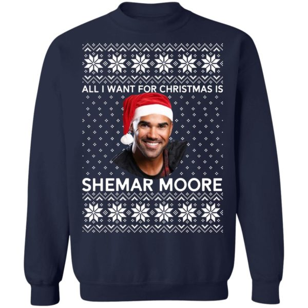 All I want for Christmas is Shemar Moore shirt 10