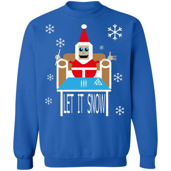 Cocaine Santa let it snow Christmas sweater
