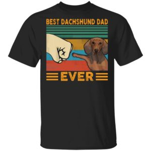 Vintage Best Dachshund Dad Ever shirt