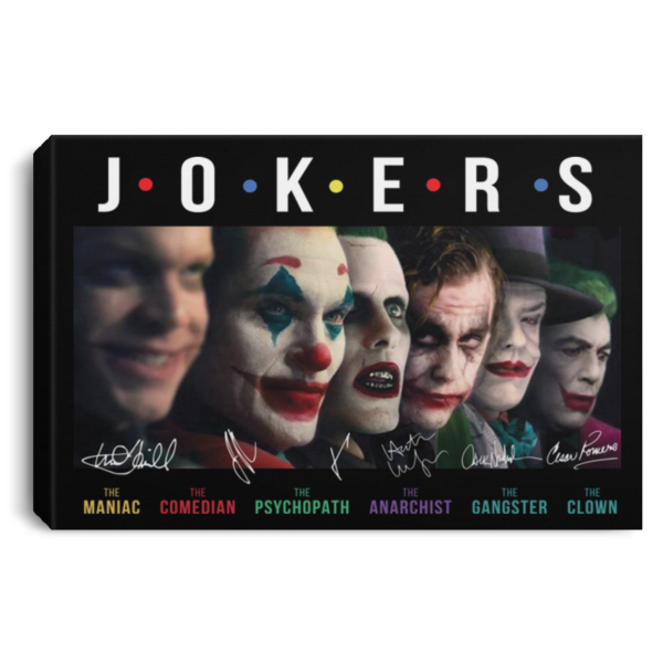 Jokers all Characters signature poster, canvas