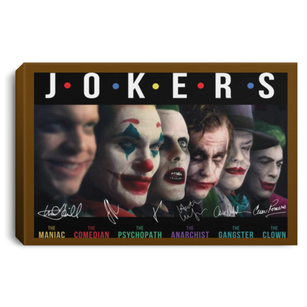 Jokers all Characters signature poster, canvas 2