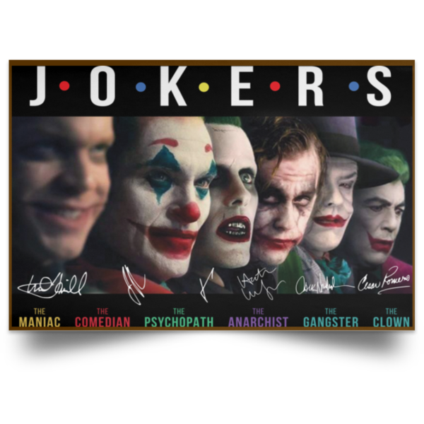 Jokers all Characters signature poster, canvas 4