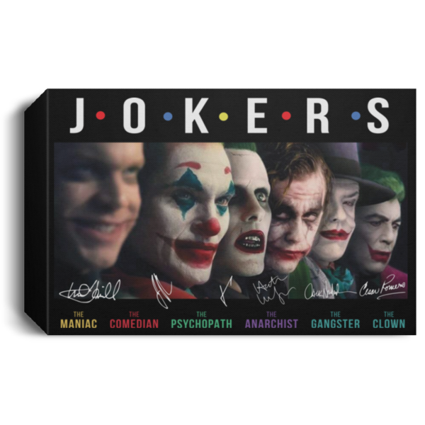 Jokers all Characters signature poster, canvas 5