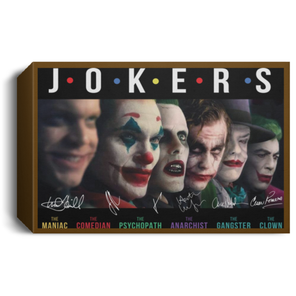 Jokers all Characters signature poster, canvas 6