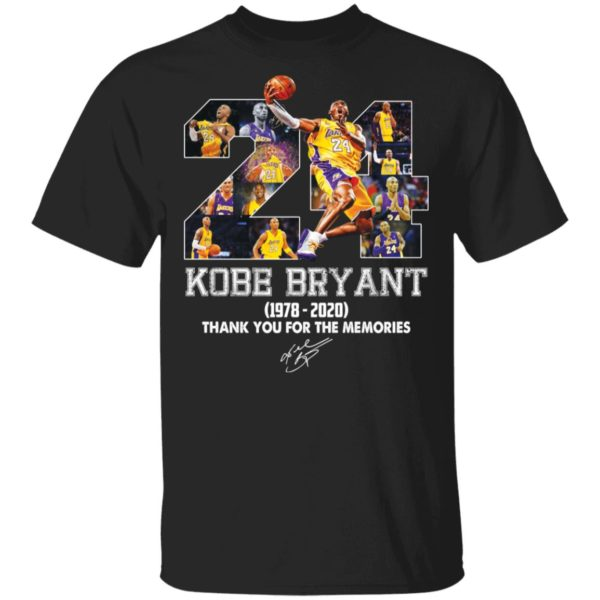 Kobe Bryant 1978 2020 thank you for the memories shirt