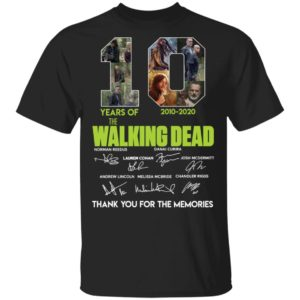 10 Years of The Walking Dead shirt